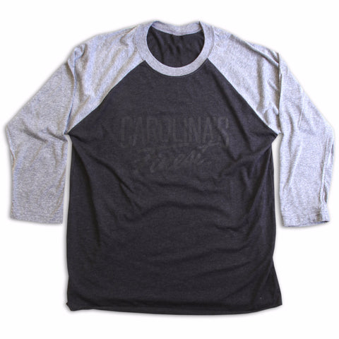 Carolina's Finest® Men's Dark Gray Unisex Raglan