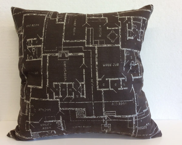House Plans Pillow