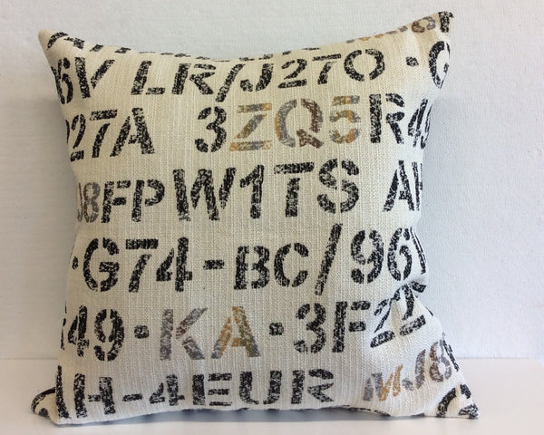 License Plate Pillow