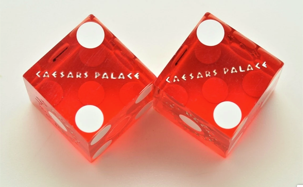 Casino Dice of the Las Vegas Strip