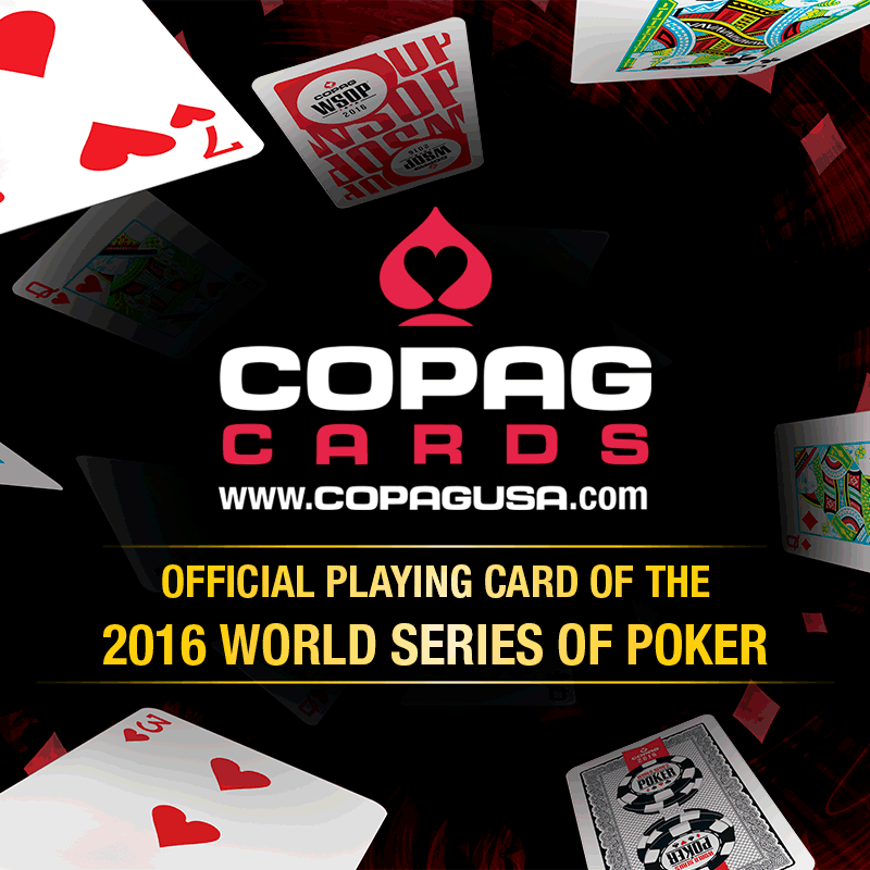 COPAG PLAYING CARDS RETURN TO THE WSOP