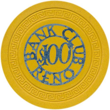 Bank Club Casino History and its Casino Chips from Reno, Nevada