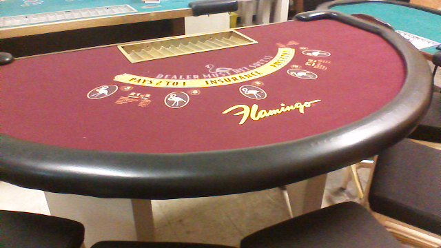 Blackjack Table from the Flamingo Hotel and Casino