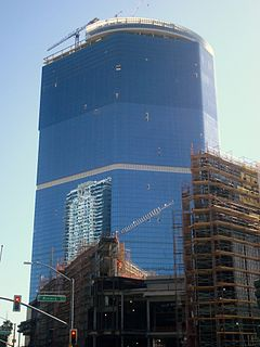 The unfinished Fontainebleau Hotel & Casino