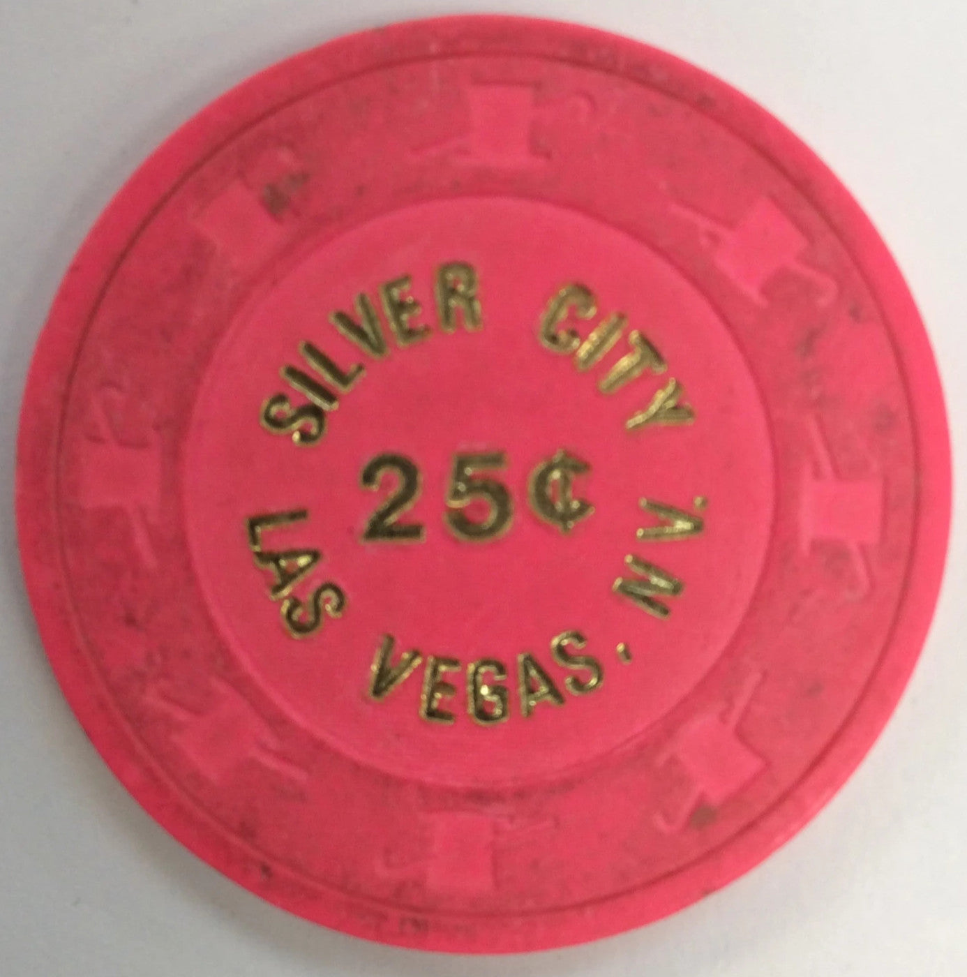 Silver City 25cent (Lt. pink) chip - Spinettis Gaming