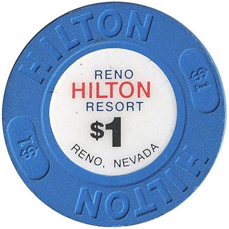 Reno Hilton Resort, Reno NV $1 Casino Chip - Spinettis Gaming - 2