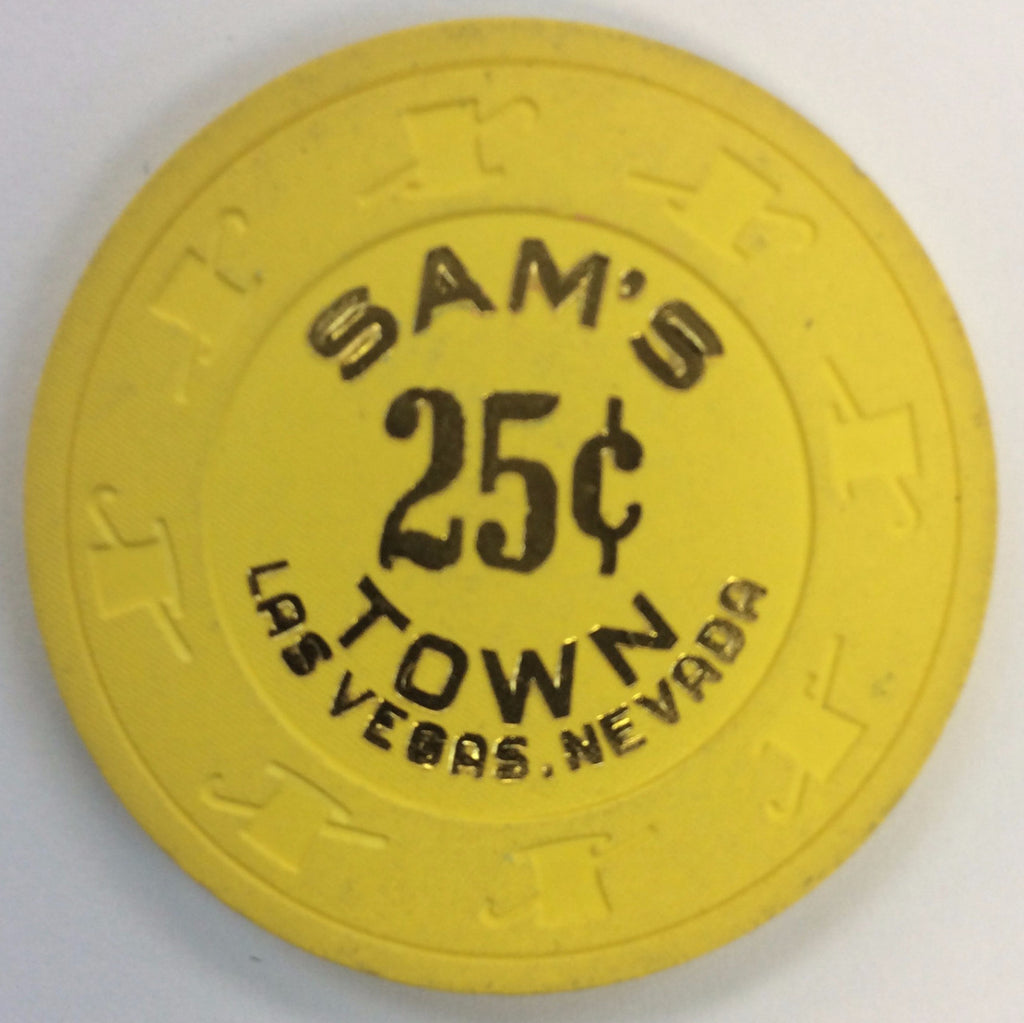 Sam's Town Casino Las Vegas 25cent chip 1986