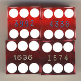 Harrah's Lake Tahoe Used Casino Red Dice, Pair - Spinettis Gaming - 2
