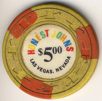 Honest John's Casino Las Vegas NV $5 Chip 1965