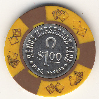 HorseShoe Club $1 (yellow) chip - Spinettis Gaming - 1