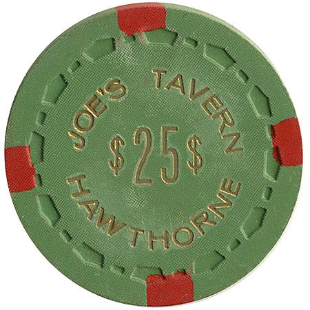 Joe's Tavern $25 (green) chip - Spinettis Gaming - 1
