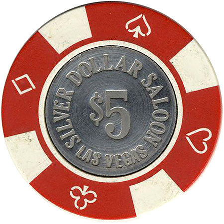 Silver Dollar $5 (red/white) chip