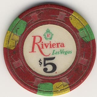 Riviera $5 (red) Paulson chip