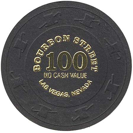 Bourbon Street Casino 100 (Black) NCV Chip - Spinettis Gaming - 1