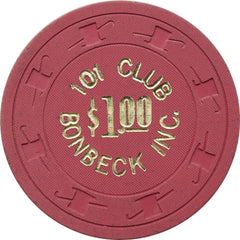 101 Club Bonbeck INC N. Las Vegas $1 Chip 1969