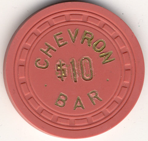 Chevron Bar Casino Searchlight NV $10 Chip 1957