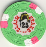 Claim Stake $25 (green 1979) Chip - Spinettis Gaming - 1