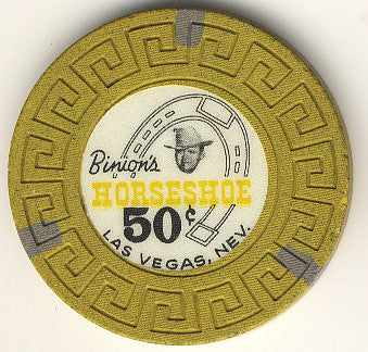 HorseShoe Club 50cent (yellow) chip - Spinettis Gaming