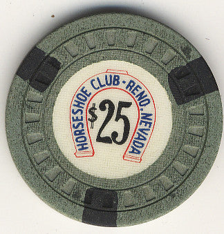 HorseShoe Club $25 green (black inserts) chip