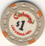 Castaways $1 (canceled- gray 1964) chip - Spinettis Gaming - 1