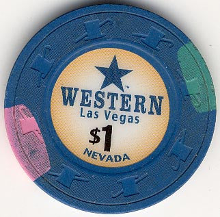 Western Casino Las Vegas $1 Casino Chip - Spinettis Gaming