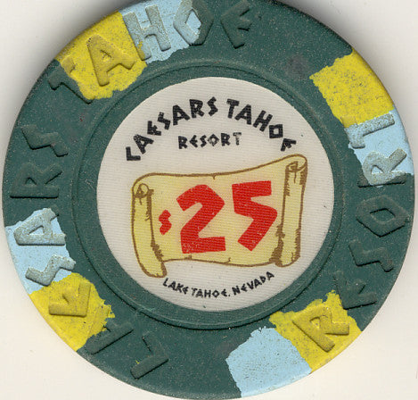 Caesars Palace $25 (green1980s) Chip - Spinettis Gaming - 1