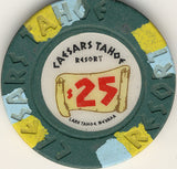 Caesars Palace $25 (green1980s) Chip - Spinettis Gaming - 2
