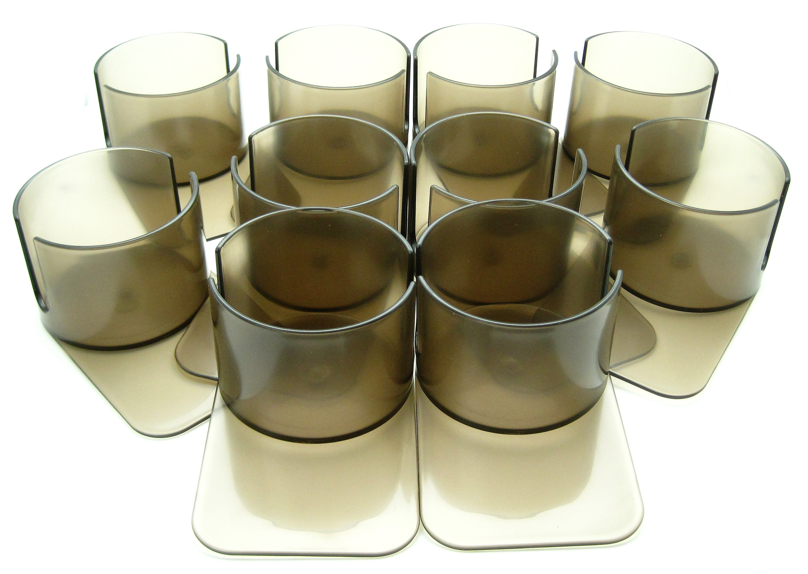 Set of 10 Deluxe Drink Cup Holder with cutout (slide under)