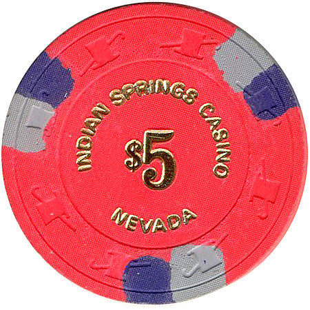 Indian Springs Casino $5 chip - Spinettis Gaming - 1