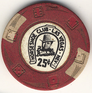 HorseShoe Club 25cent (Red, Die Swirl Mold) chip - Spinettis Gaming