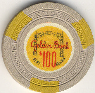 Golden Bank $100 (beige) chip