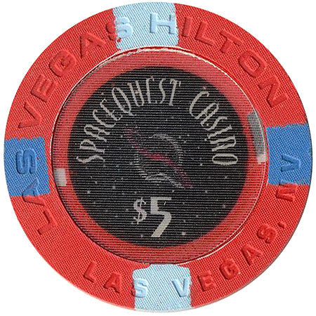 Las Vegas Hilton Casino $5 Spacequest Chip 1997
