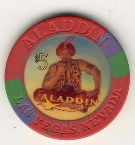 Aladdin Casino $5 (2000) Chip - Spinettis Gaming - 1