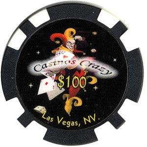 Jester $100 Casino Crazy Chip - Spinettis Gaming - 1