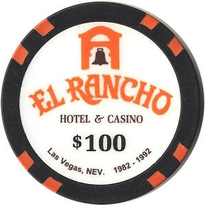 El Rancho $100 Chip (Blk) - Spinettis Gaming - 1