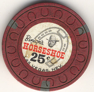 HorseShoe Club 25cent (red, Horseshoe mold) chip - Spinettis Gaming
