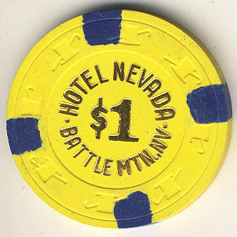 Hotel Nevada $1 (yellow) chip - Spinettis Gaming - 1