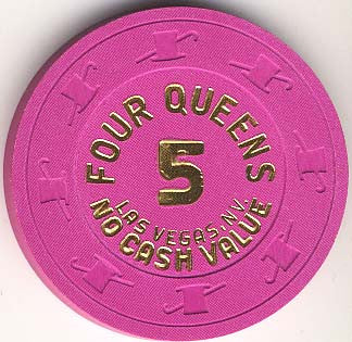 Four Queens 5 (NCV)(hot pink) chip - Spinettis Gaming - 1