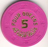 Four Queens 5 (NCV)(hot pink) chip - Spinettis Gaming - 2