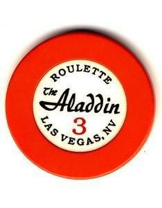 Aladdin Casino Roulette 3 orange (1990s) Chip - Spinettis Gaming - 1