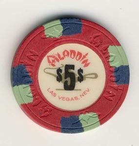 Aladdin Casino $5 (1980) Chip - Spinettis Gaming