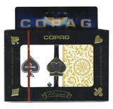 Copag 1546 Black/Gold Poker Size 2 deck setup - Spinettis Gaming - 1
