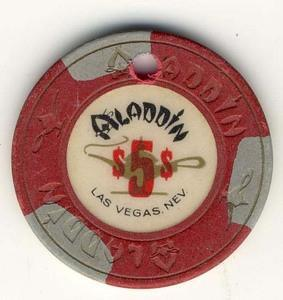Aladdin Casino $5 (1980s) Cancel Chip - Spinettis Gaming - 1