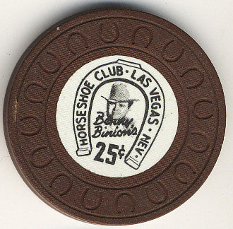 HorseShoe Club 25 (brown Horseshoe mold) chip - Spinettis Gaming - 1