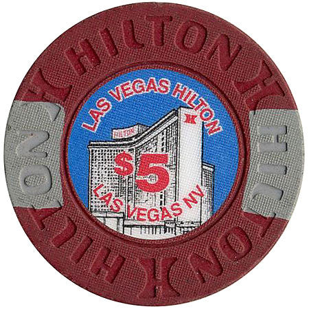 Las Vegas Hilton $5 chip - Spinettis Gaming - 1