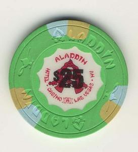Aladdin Casino $25 (1989) Chip - Spinettis Gaming - 1