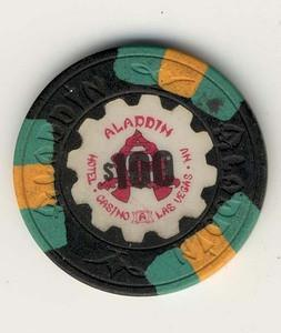 Aladdin Casino $100 (1989) Chip - Spinettis Gaming