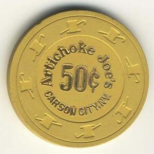 Artichoke Joe's Casino 50cent Chip