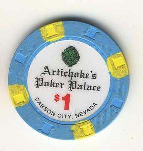 Artichoke's Poker Palace Carson City NV $1 Chip 1997