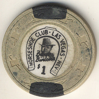 HorseShoe Club $1 (beige-canes) chip